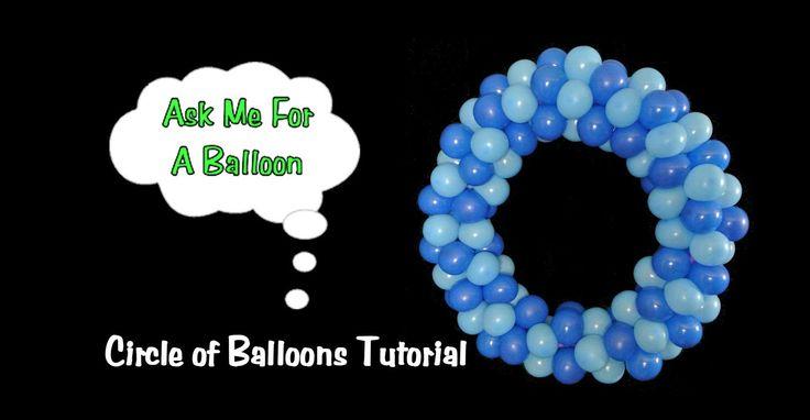 "Balloon Decoration Tutorial - Circle 120 5"" balloons for 22 inch hula hoop"