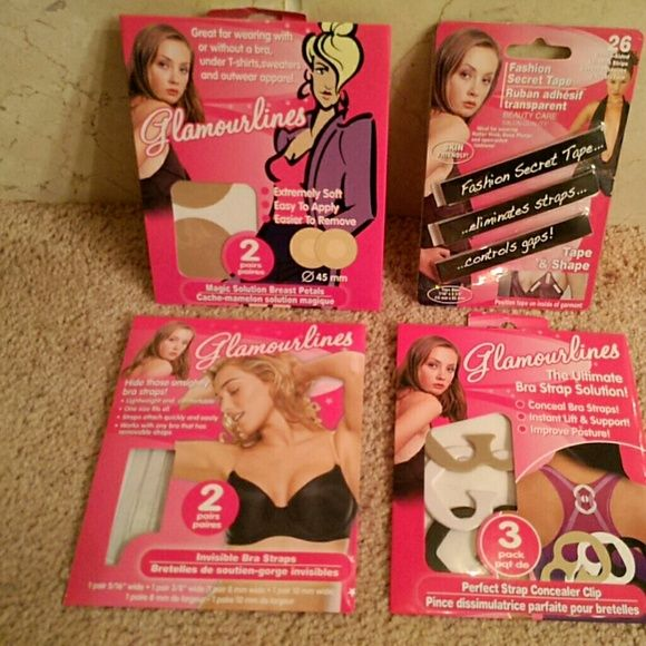 Fashion 1st Aid Kit For all those fashion disasters -3 pack of bra strap concealer clips, 2 pairs of clear replacement bra straps, 2 pairs of magic solution breast petals, 26 strips of fashion secret tape Accessories