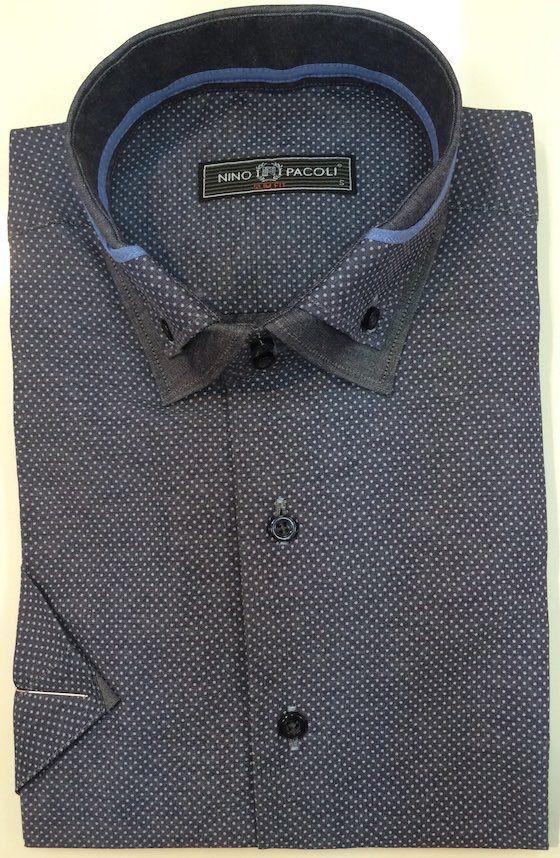 Серая рубашка текстурная