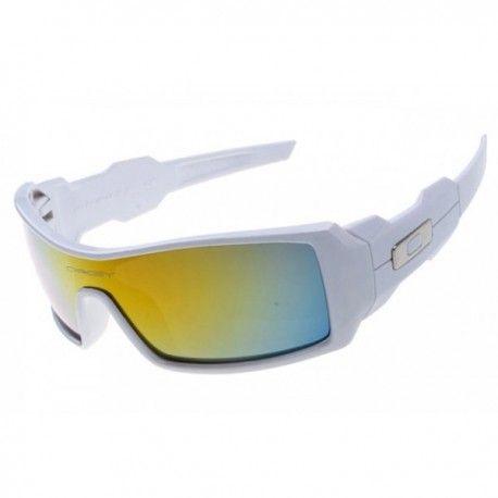 $18.00 oakleys sunglasses,Oil Rig sunglasses white with fire iridium  http://sunglassescheap4sale