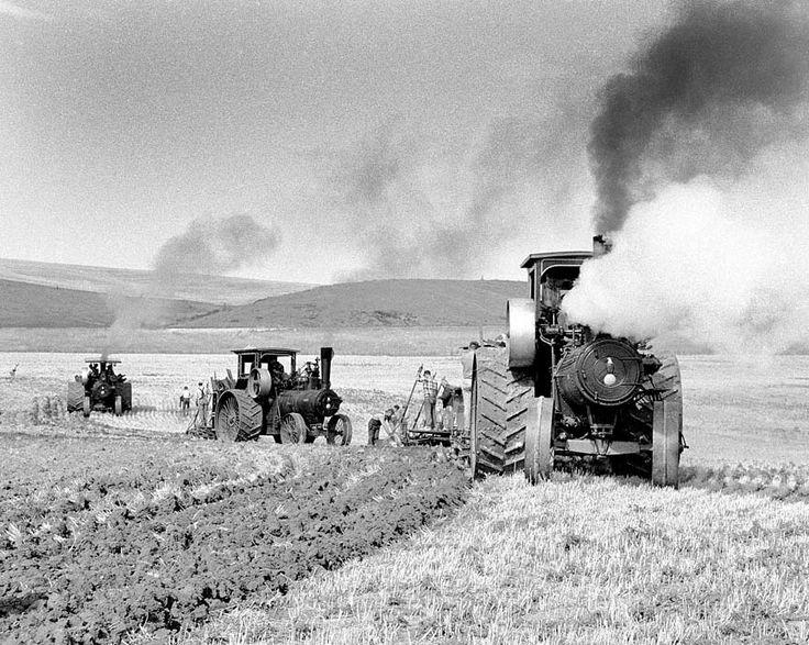 Steam Plowing (Montana) ~ FINE ART PHOTOGRAPHY of NOSTALGIC AMERICANA from NOSTALGIC IMAGE PHOTOGRAPHY