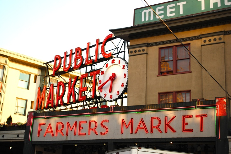 Pike's Place.  The most beautiful flowers can be found here year round!