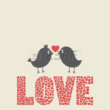 Любовь: Любовь птицы птицы Иллюстрация