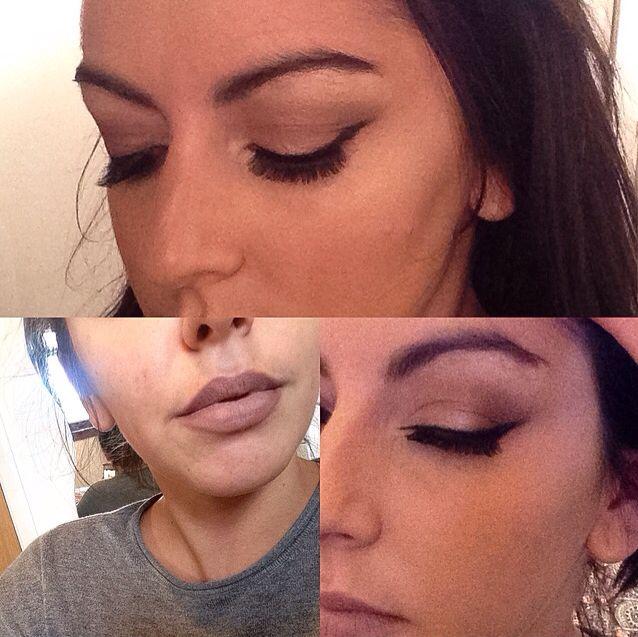 Ombre lip and smokey eye