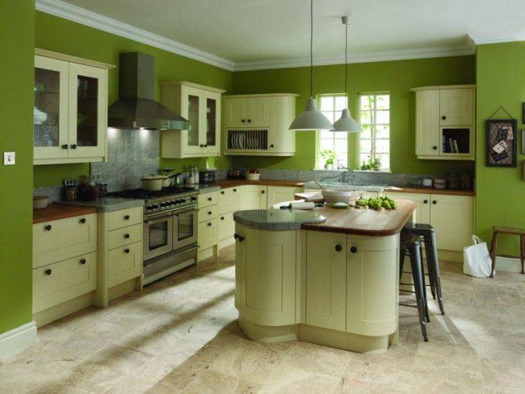 stunning white kitchen cabinets green walls colors | 10 Beautiful Kitchens with Green Walls | Green kitchen ...