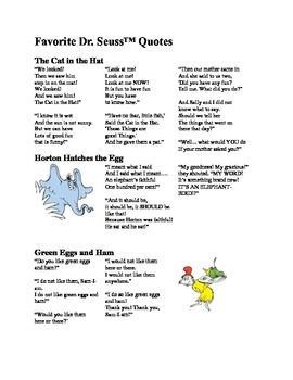 25 Best Ideas About Dr Suess Poems On Pinterest