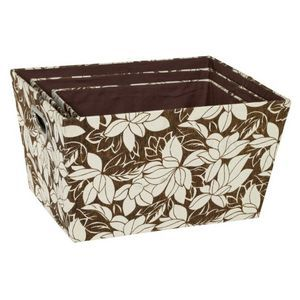 Fabric Box Set of 3 - Brown