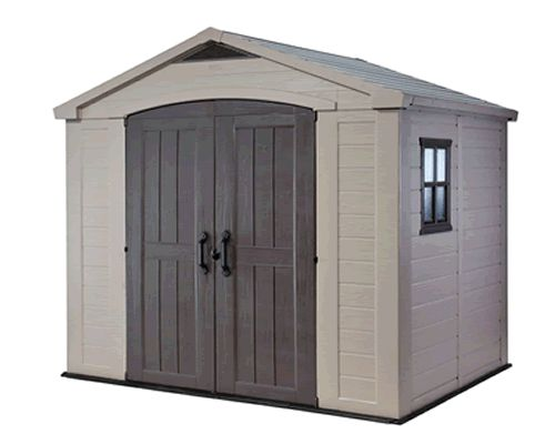 Plastic Keter sheds available to buy over at HouseandHomeShop.co.uk