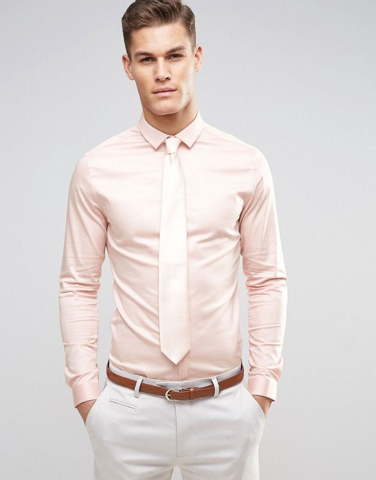 Shop the versatile collection of men's pink dress shirts at The Tie Bar.