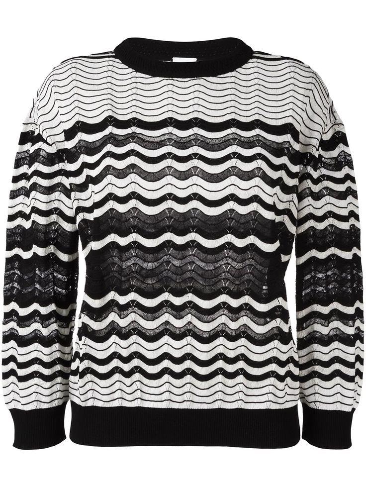 M Missoni свитер с фестончатым узором
