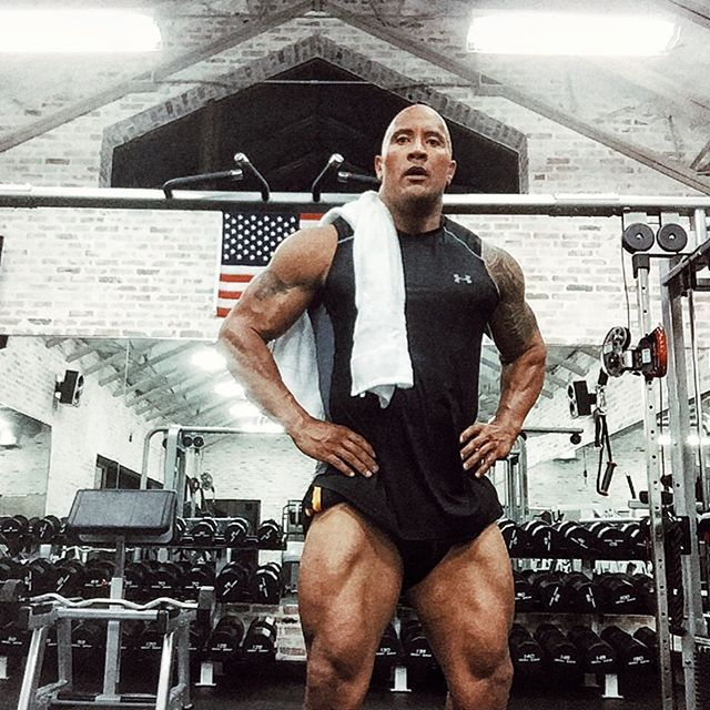 Pin for Later: Simply Put, We Love Dwayne Johnson, and Here Are All the Reasons He even looks hot when he's sweaty. Now that's just not fair.