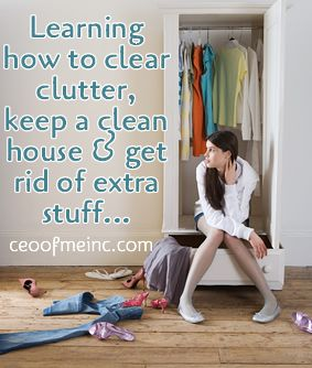 Too much junk in our trunks… Learning how to clear clutter, keep a clean house & get rid of stuff