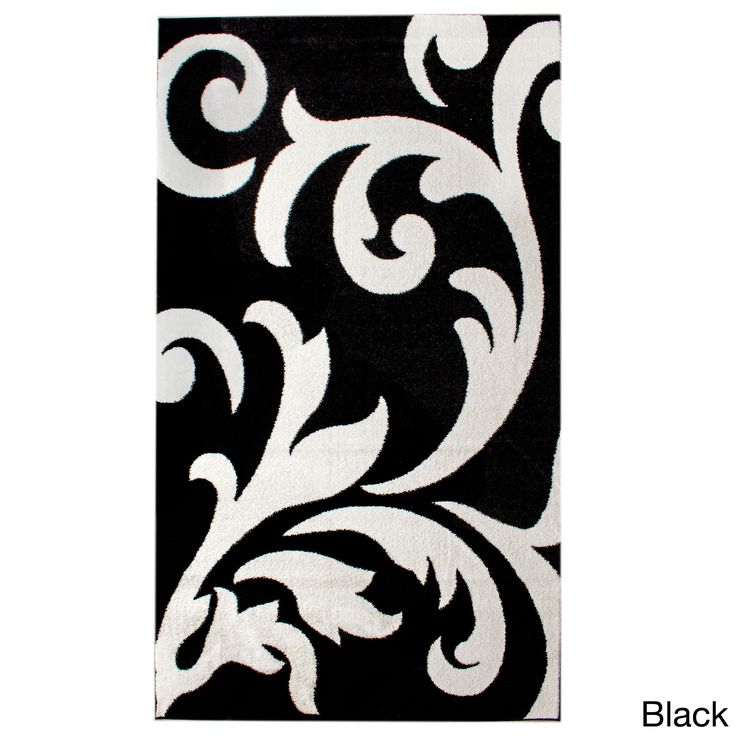 Combine lovely, rich floral patterns with a solid black design with this Metro floral damask rug for a casual and modern appearance. This jute-backed rug features soft, velvet-like fibers for an enjoy