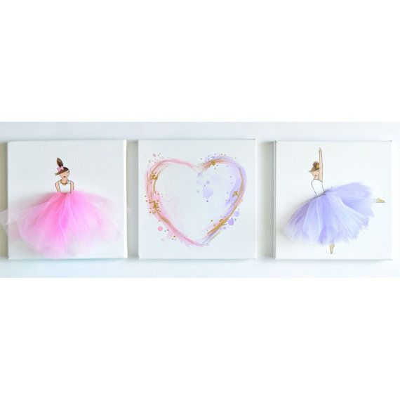 Hey, I found this really awesome Etsy listing at https://www.etsy.com/listing/233133648/new-set-of-ballerinaheart-canvases-hand