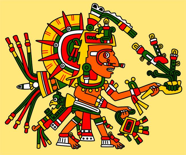 huitzilopochtli temple | Today's Maya date is: 13.0.1.6.8 - 489 days into the new cycle!