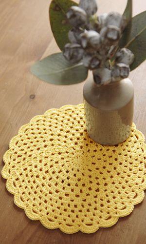 Crochet doily - freeJapanese diagram. English version via this link: http://gosyo.co.jp/english/pattern/eHTML/doily.html
