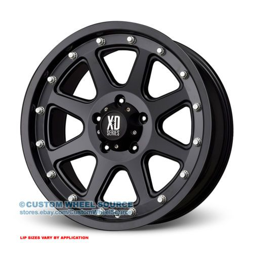 "20"" XD Series Addict Black Rims w/ Federal 35X12.50R20 Off Road Wheels and Tires      http://www.wheelhero.com"