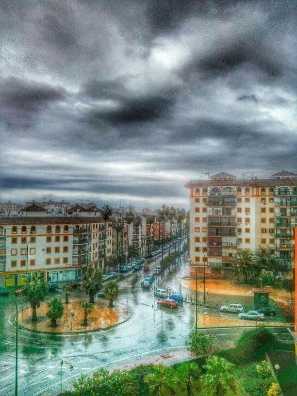 Lluvia en Sevilla. 4 de Enero 2014