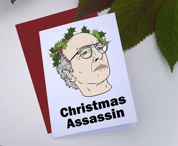 Larry David Christmas Card