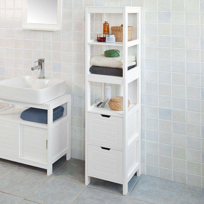 Sobuy Frg126 W White Floor Standing Tall Bathroom Storage Cabinet With 3 She Tall Bathroom Storage Cabinet Tall Bathroom Storage White Bathroom Storage Cabinet