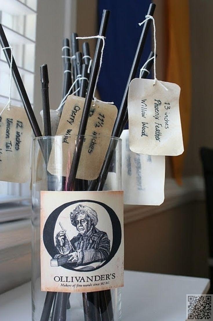 42. #baguettes - 60 idées pour une #soirée à thème #Harry Potter... → DIY                                                                                                                                                     Plus