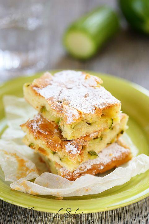 Scarpaccia, gâteau sucré aux courgettes typique de la Toscane