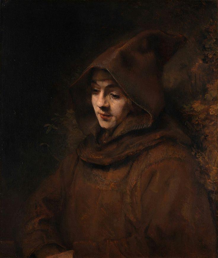 Titus. Pintura que hizo Rembrandt de su hijo.