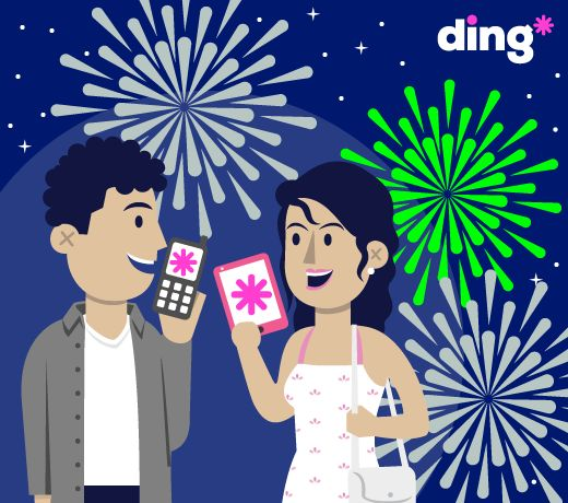 Don't forget to top-up your loved one in time for the New Year! #dingfact - ding* is available in over 130 countries so we can help you connect with a loved one no matter where they are in the world! How do you say #HappyNewYear in your country?  www.ding.com