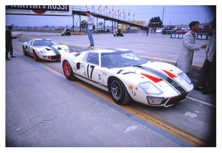 https://flic.kr/p/EtdZuP | 1966 Sebring Comstock Ford GT40's | Eppie Wietzes and Craig Fisher drove the #17 Comstock Racing Team Ford GT40 at Sebring in 1966. This car was withdrawn after their team member, Bob McLean, died when he crashed and burned in the #18 Comstock Ford GT40 in the photo. Later in the race four spectators would die when hit by a Porsche 906. The '66 race would go down in history as the bloodiest race in Sebring history and this month is the 50th anniversary of that t...