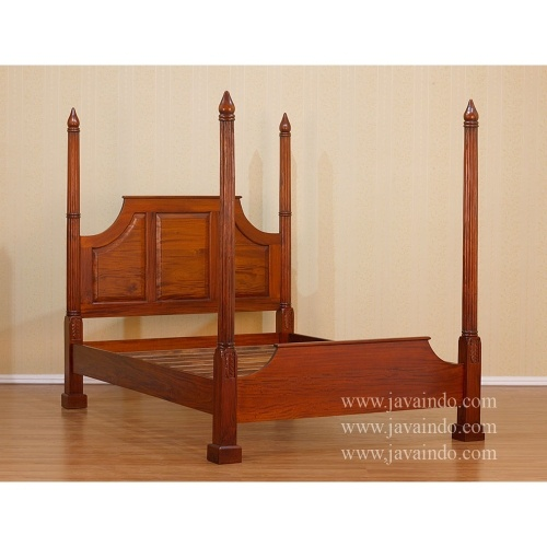 Venezia Queen Beds, Bedroom Furniture Style Venezia From Mahogany Wooden  Enrich With 4 Poster Bed