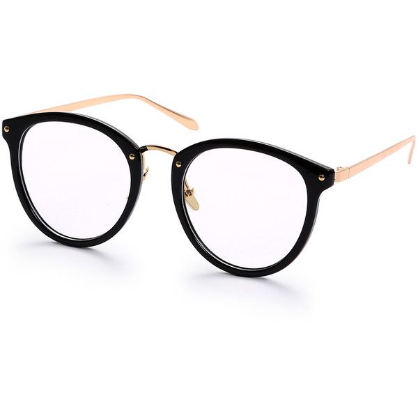 df71a627d0f Black Round Frame Metallic Arms Sunglasses (370 PHP) ❤ liked on Polyvore  featuring accessories