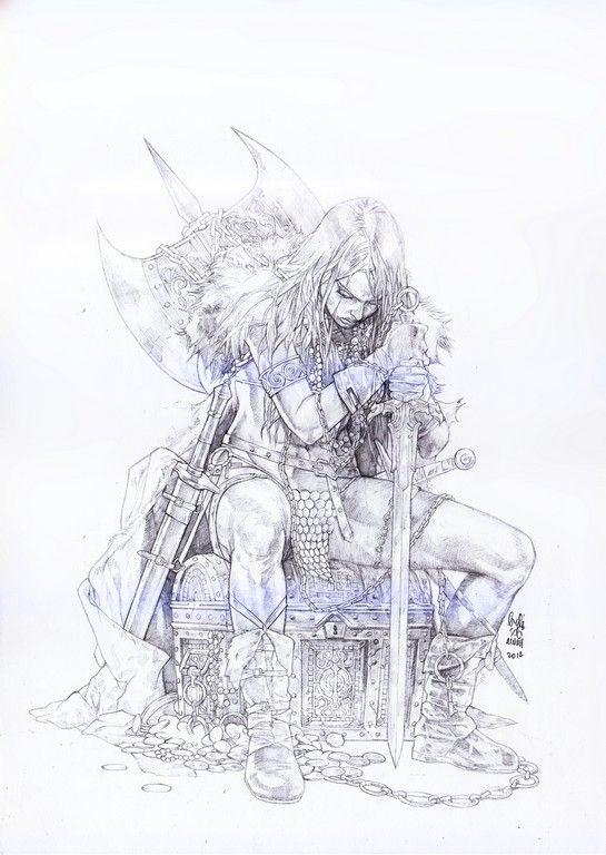 Red Sonja by Budi Setiawan Comic Art                                                                                                                                                     More