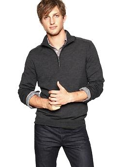 Sweater to Chris:  Grey Plaid Shirt, Dark Jeans, Black Shoes