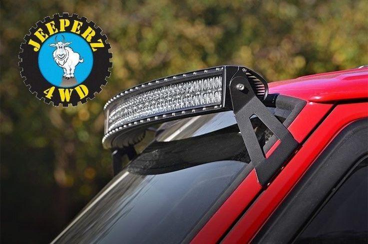 Jeep XJ Cherokee 50 inch curved LED light bar mounting brackets, **NEW** in eBay Motors | eBay