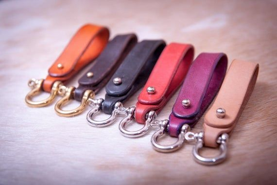 Key Fob Key Holder Personalized Gift Leather Keychain