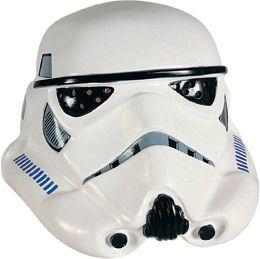 Collectors Storm Trooper Helmet - Prepare for terrible aim with your blaster. It's a Stormtrooper helmet from the Original Star Wars Trilogy.   This Stormtrooper helmet is a two piece mask that snaps together. Front and back. There are foam pads attached inside for comfort. The eyes are tinted goggle-like lenses.  #stormtrooper #starwars #yyc #costume #helmet