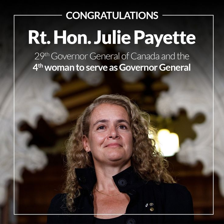 """Bob Bratina on Twitter: """"Wishing Julie Payette all the best as she is sworn in as Governor General. Thank you to David Johnston for his years of service as GG. https://t.co/nxGBJhecKt"""""""