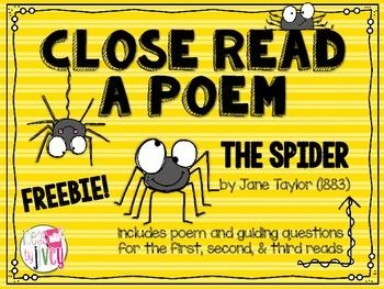 Ideas By Jivey: For the Classroom: Close Reading Poetry: Step-by-Step Mini-Lesson