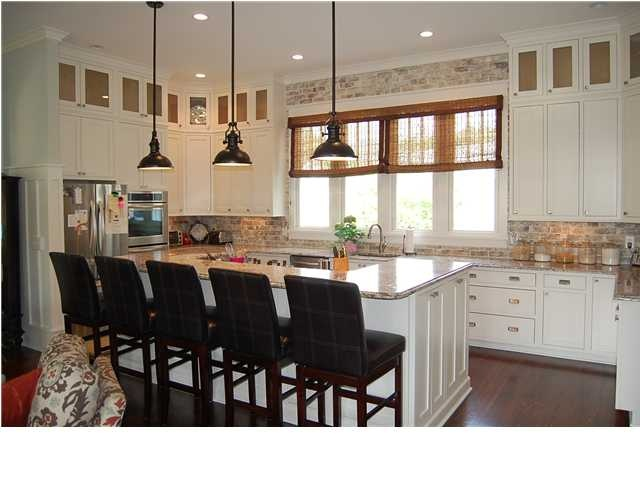 Brick Veneer as kitchen backsplash