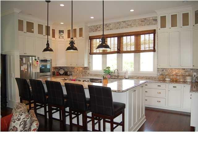 Brick Veneer As Kitchen Backsplash Custom Dream Home