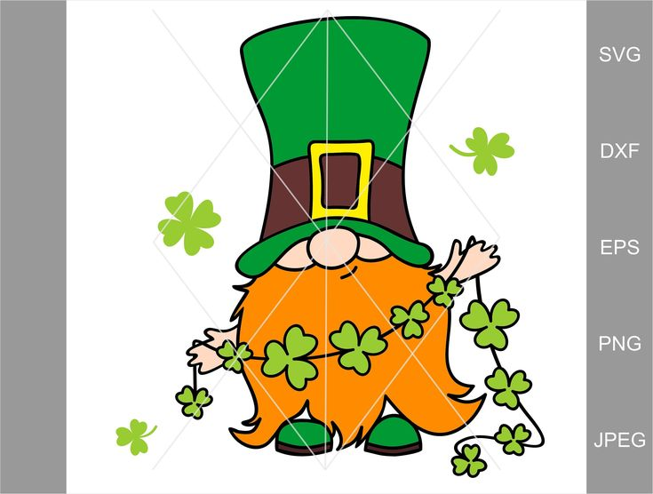 Download St Patricks Day Svg, clover clipart, Irish gnomes clipart ...