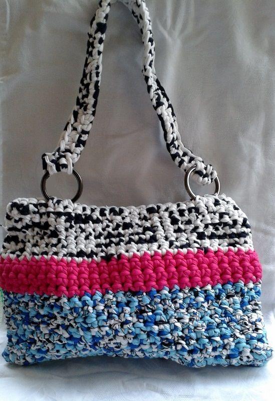 Handmade crochet bag.Dimensions 33cm x 22cm