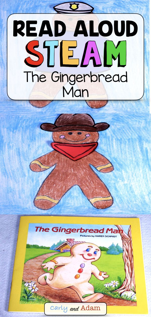 The Gingerbread Man Gingerbread Disguise Christmas Read Aloud Steam