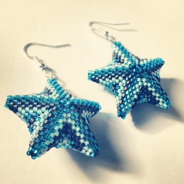 #earrings #handmadeaccessories #handmadejewelry #handmade #beadedjewelry #star  (at Szeladon)