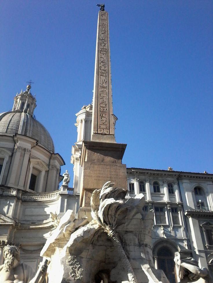 Obelisco de Domiciano Piazza Navona Roma