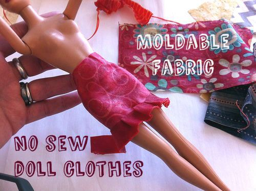 How-To: No Sew Doll Clothes- easy Barbie dress up and fashion design