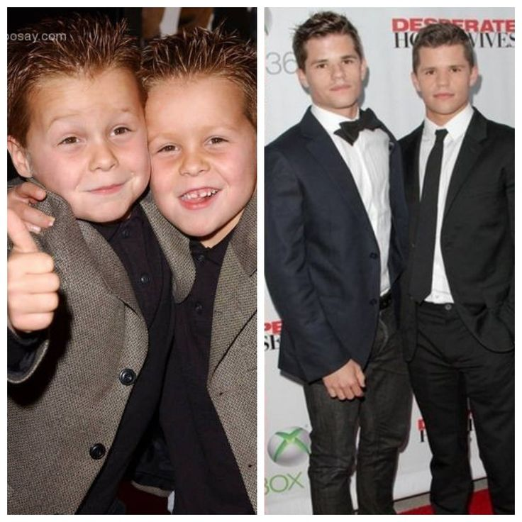 Brent and Shane Kinsman from Desperate Housewives, then and now!