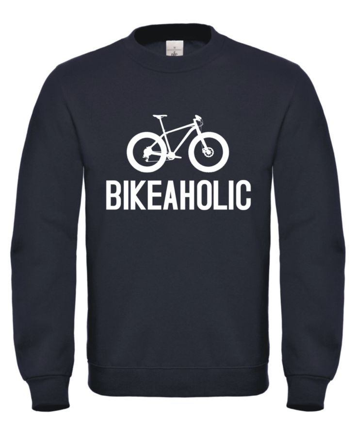 BIKEAHOLIC Mens Womens Unisex Adults Sweatshirt Jumper Sweater MTB Mountain Bike Bicycle Cycling Clothing NEW