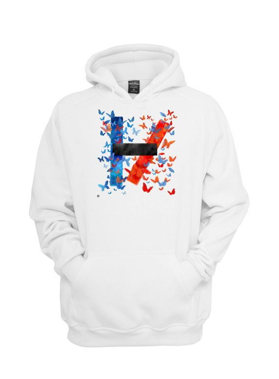 twenty one pilots fan art hoodie  Size S M L XL XXL by Zeglentog