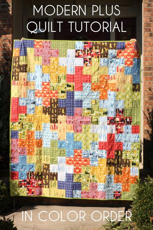 Free Tutorial - Modern Plus Quilt by Jeni Baker